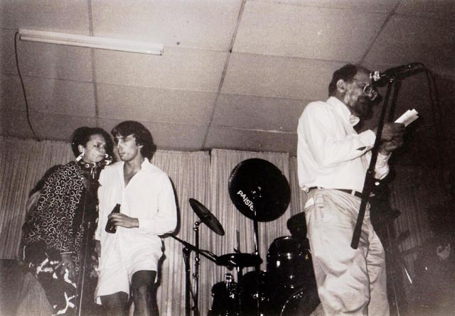 Allen Ginsberg, Anne Waldman, Chris Funkhouser, Denver, CO, July 1986