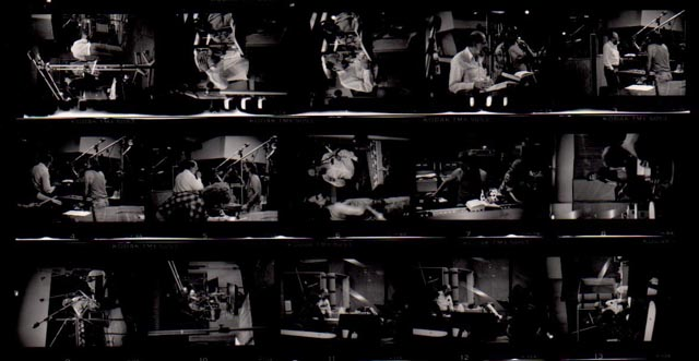 The Lion for Real recording sessions, 1987; photos/contact sheet by Chris Funkhouser